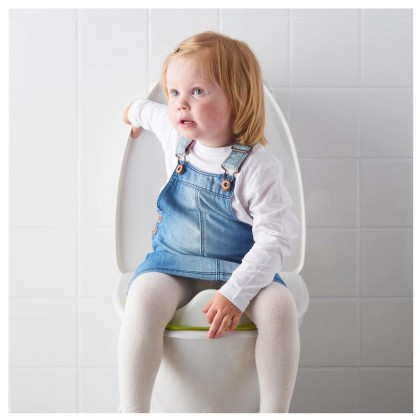 IKEA High Quality Portable Tossig Toilet Seat White + Green Kids Children Toddler Toilet Trainer Training Potty Seat With Soft Curves and Edges : BABYMART.MY Potty training seat, Potty training pants, Baby Potty, Squatty Potty,potty chair