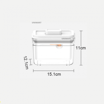 EZBABY Large-Capacity Airtight Container Rectangle Shape Transparent Series With Scrapper, Spoon and Spoon Hanger Bekas Susu Bayi 大容量收纳盒