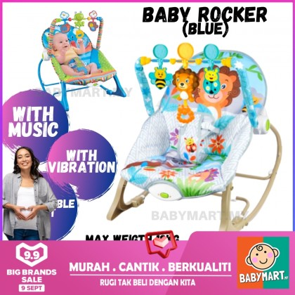 Premium iBaby Rocker Bouncer New Born/Toddler Music Sleeping Vibration Baby Chair With Safety Belt