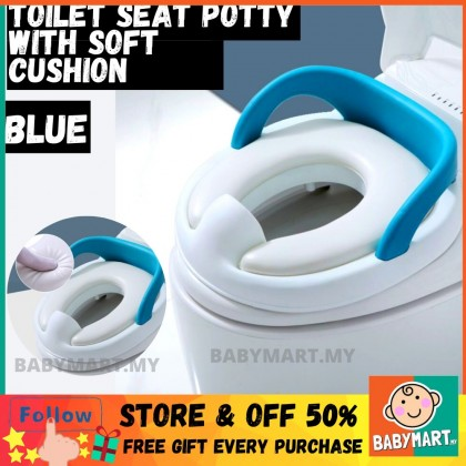 Training Toilet Seat Potty With Soft Padded Plus Size For 1-10 Years old Lighweight Suitable For All Toilet Types