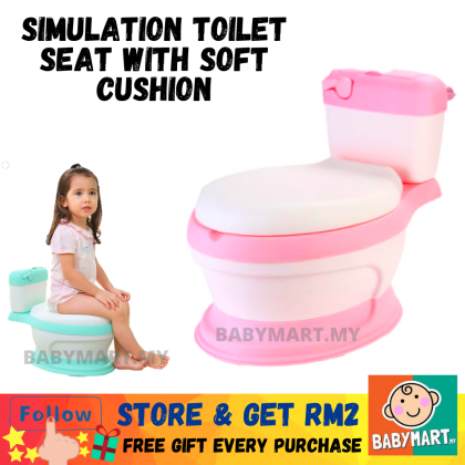 Simulation Toilet Seat Potty With Soft Cushion Light Weight Thick For Baby And Kids High Quality Extra Bubble Wrap