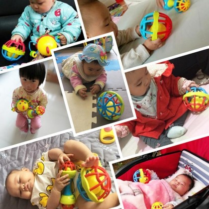 Baby Hand Rattle Gym Ball Bell Toys Kids Soft Toys Baby Grab Ball Soft Ball Children Toys Kids Rattle Ball