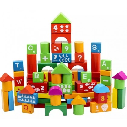 Ready Stock! 100pcs Barrelled Wooden Alphanumeric Letter Number Building Educational Blocks Toys for Children Kids Gift toy for boy toy for girl education toys wooden toys block lego ; BABYMART.MY blocks, wooden toys, toys, block lego, block toys