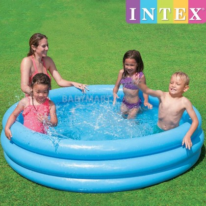 Intex Inflatable 3 Ring Swimming Pool Playground Pool Summer Sunset Glow Baby Kids Children Play Pool Round Indoor / Outdoor Playground [BLUE]: BABYMART.MY Swimming Pool for Kids, Swimming Pool, Swimming Suit, Swimming Goggles, Swimming Suit Women, Swim