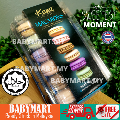 BABYMART KAMI 12 Biscuit Macarons Mixed Flavour Sweet And Delicious Dessert Biskut Macaron Set Valentine (12pcs) Blueberry Lychee Pistachio Thai Tea Strawberry Chocolate
