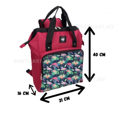 BabyMart Simple Dimple Hipster Keepster Bag Diaper Back Pack Beg Pampers Galas Belakang