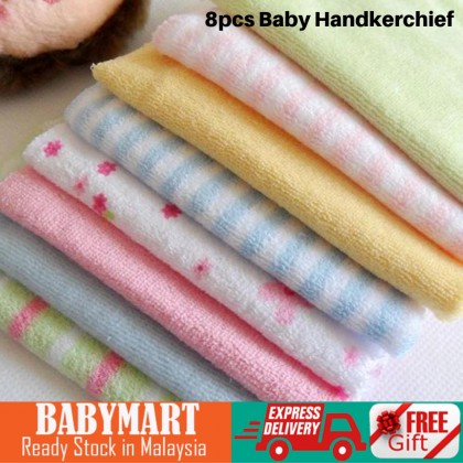 8 in 1 Cute Multicolor Baby 100% Cotton Handkerchief Washcloth Very Soft and Gentle to Skin New Born Must Have  BABYMART.MY Washcloth, Handkerchief, Handkerchief men, Handkerchief Cotton, Sapu Tangan, baby handkerchief, Sapu tangan baby