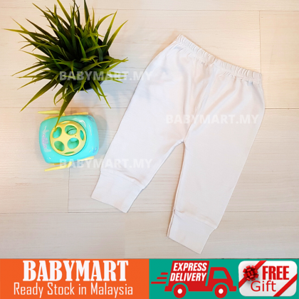 BABYMART.MY Baby Pants For Newborn - 6 Months Cotton Easy To Wear Comfort High Quality New Arrival (Random Colour)