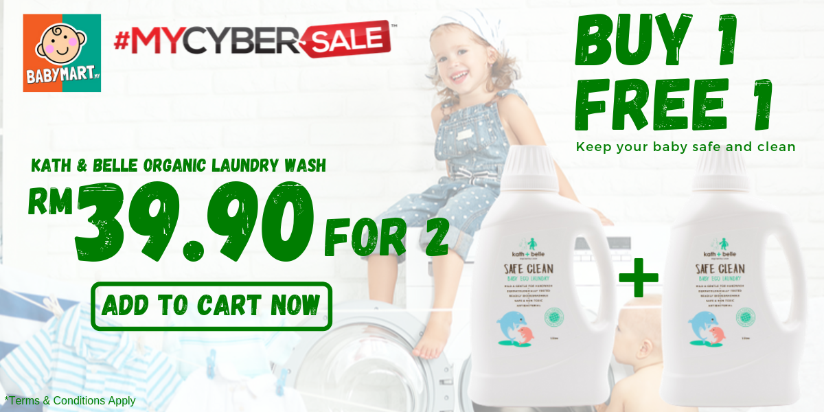 BUY 1 FREE 1 BABY ORGANIC LAUNDRY WASH