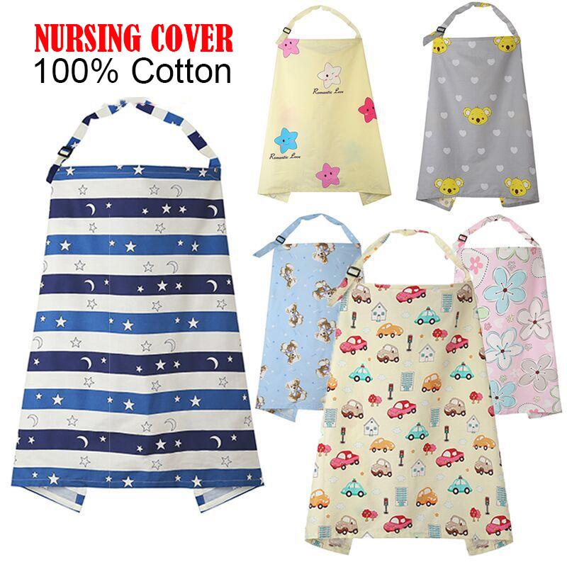 6in1 Multi function Breastfeeding Mummy Cover Breathable Nursing Blanket 100% Cotton For Feeding Baby