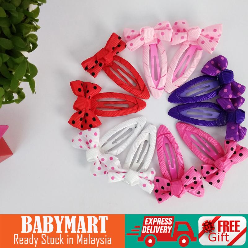 FLASH SALE! Baby Kids Girl Hair Accessories Assorted Hairpins Set Kids Baby Girls Sweet Bowknot Hair Clips Pins Accessories Gift for Daughter [ Random Design]
