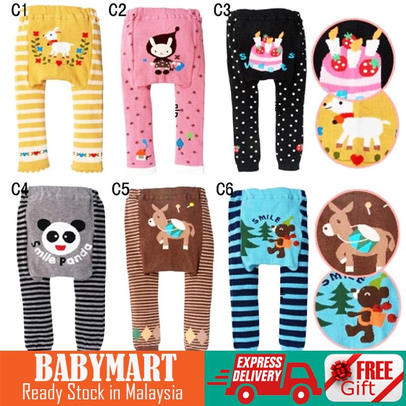 BABYMART.my : Good Quality!! Baby Leggings Cotton Baby Pants Cartoon Design Characters Toddler Boys Girls Pants Elastic Waist Leggings Trousers : BABYMART.my