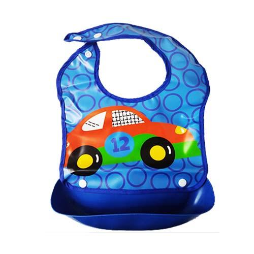 Promotion Best Deal! Good Quality Waterproof Baby Bib with Food Catcher Pocket Tray Unisex with Cute Cartoon Design : BABYMART.MY