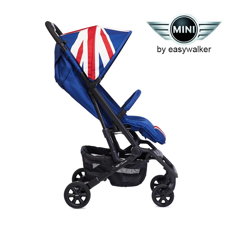 Easywalker Mini XS Union Jack Classic Stroller Compact Folding (Cabin size) Light Weight Stroller Baby Newborn up to 20kg 5 Point Harness with 2 Year Warranty : BABYMART.MY