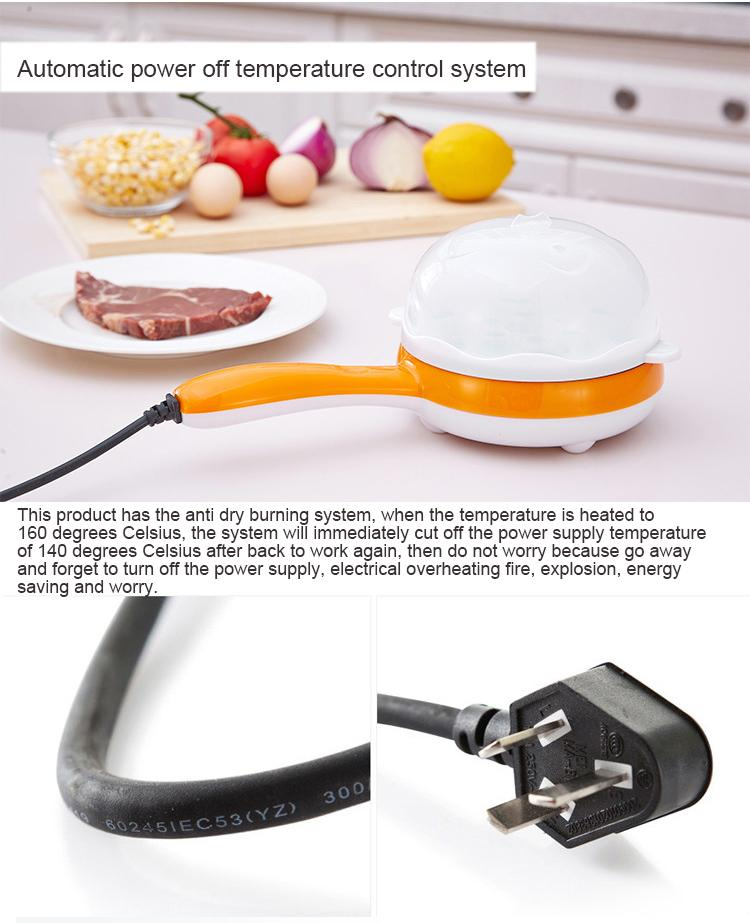 Good Quality! 2 in 1 Multifuntional Magic Mini Pan Pot Electric Steamer For Boiled Egg, Fried, Pancake, Roast Fish, Grill Fillet Steak 220 Volt BABYMART.MY egg boiler, magic pot, steamed pot, steamer pot, steam cooker, egg cooker, fried pot, pancake pot