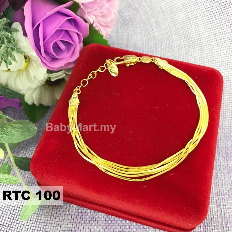 Raya Must Have!!! 24k Gold Korea Plated High Quality Premium Bracelet Bangle Gift For Women Girls Fashion Jewelry Korean Style Long Lasting (RTC100)