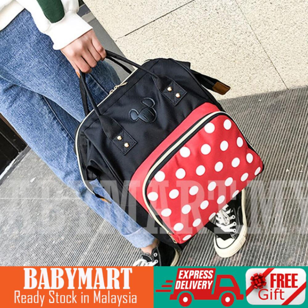 Ready Stock! Mummy Shoulder Backpack Shoulder Strap Korea Version MultiFunction Large Capacity Fashion Mummy Bag Pregnant Women Out Travel Backpack Maternal and Child Package : BABYMART.MY backpack, mummy backpack, travel bag, mummy bag, diaper bag