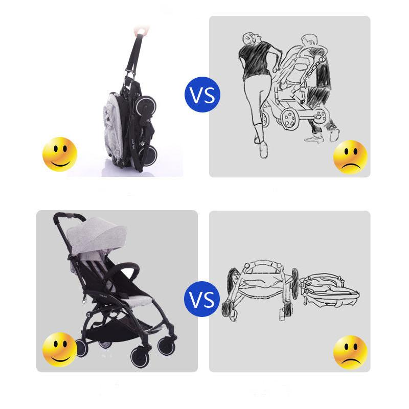 BEST SELLER!! New Upgraded Ultralight Weight Hand Carry Baby Stroller Jogger Push Chair Pram Travel For New Born Baby (008 plus) + FREE GIFT : BABYMART.MY