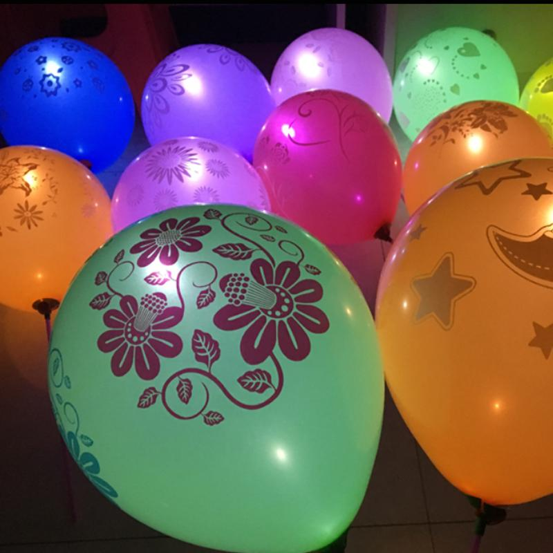 Promotion! 10PCS/PACK Glow In The Dark Party Balloons Led Flash Balloons with Pattern Design Illuminated LED Balloon For Wedding Birthday Decoration Party ( Random Color and Pattern ) Birthday Christmas Gift :BABYMART.my
