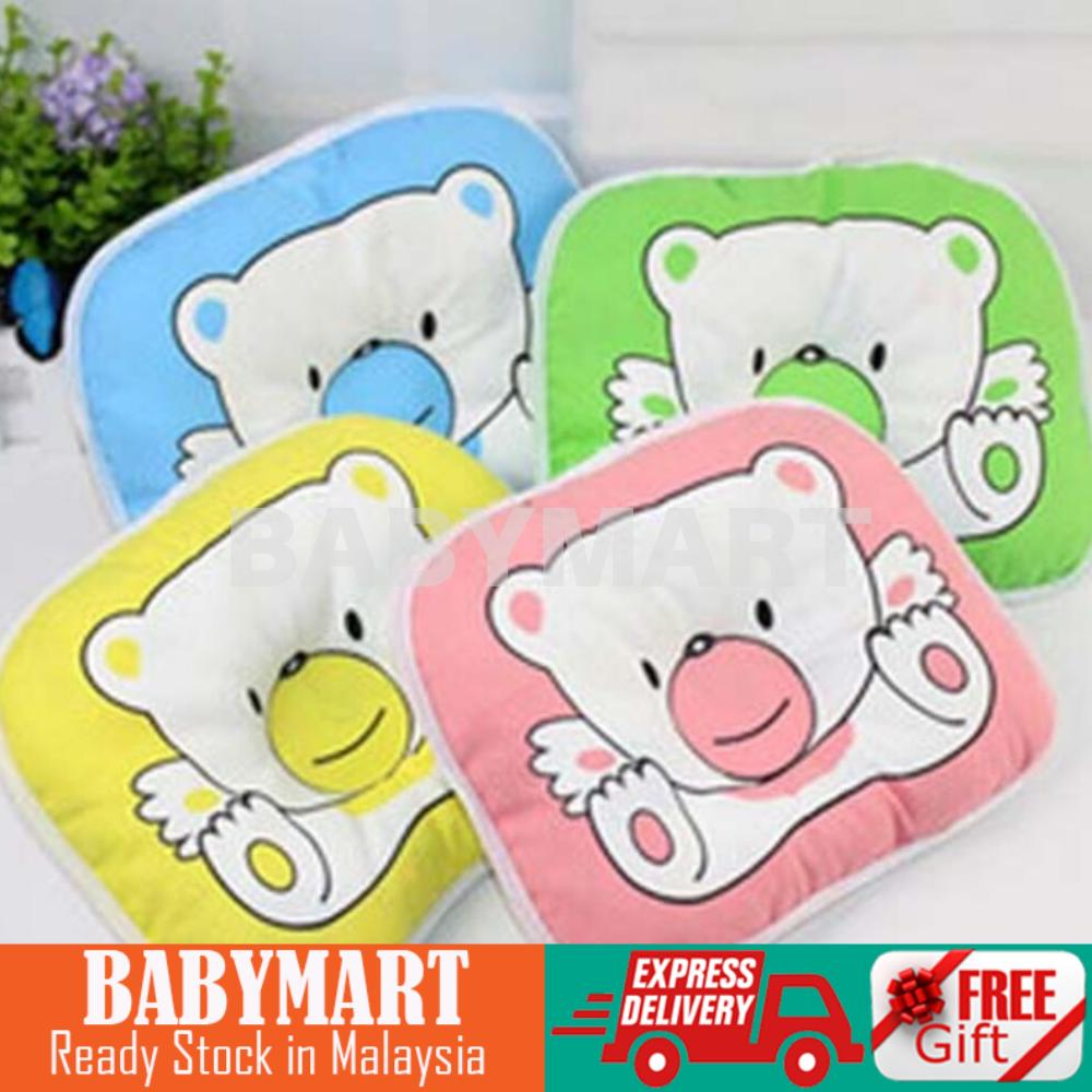 Ready Stock! Newborn Infant Soft Neck Support Print Bear Head Shape Baby Shaping Flathead Prevention Pillow : BABYMART.MY baby pillow, pillow, head pillow, baby head pillow, baby neck support, baby sleeping pillow, newborn pillow, soft pillow