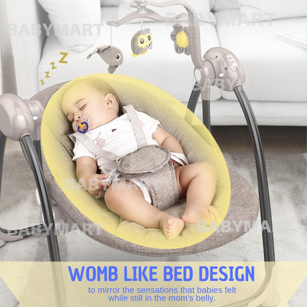 Bluetooth Music Swing Baby Electronic Bed Rocker Bedding Swing  Musical Bed Mosquito Net Swing Bed Auto Swing Bed Premium Quality Automatic bluetooth Baby Cradle Electric Baby Intelligent Swing Bed Rocking Chair Newborn Bed Katil Baby Katil Elektrik