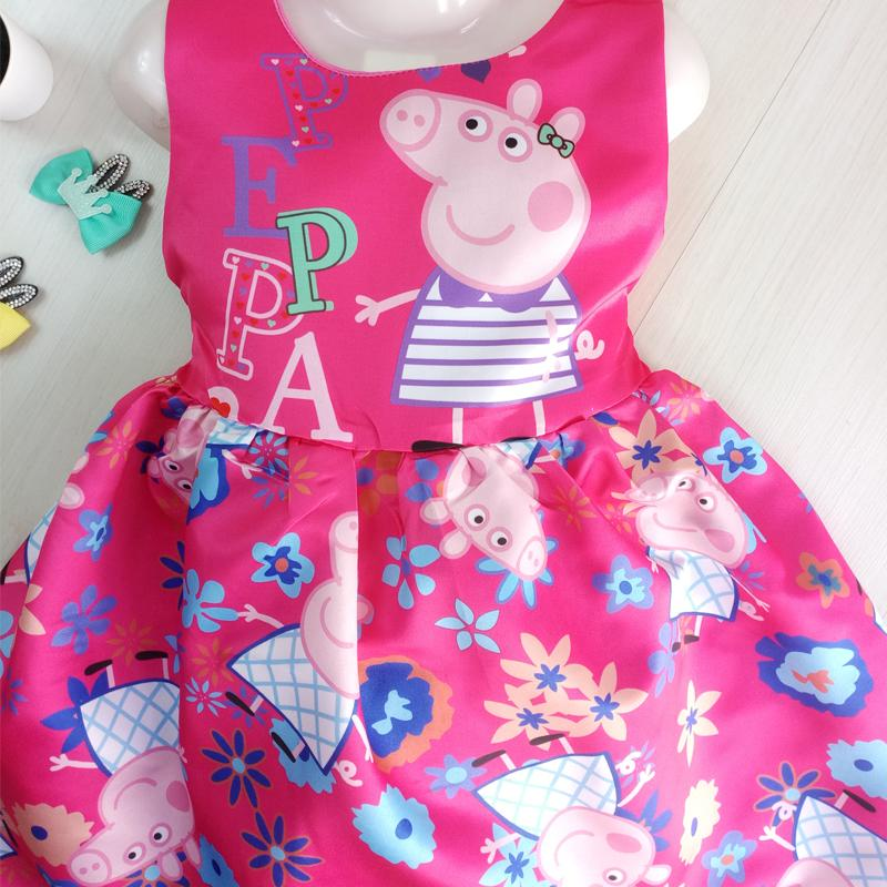 Best Selling ! Kids Girls Gown Dress Peppa Pig Cartoon Party Casual Skirt Elegant Fashion Color flower girl dress for kids : BABYMART.MY peppa pig toys girl dresses party dress kids dress princess dress for kids