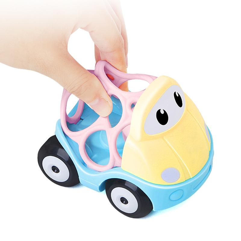 NEW! SOFT RUBBER TOYS! Early Development Rattle Toys Baby Infant Toys Soft Rattle Toys Car Shaker Teether Grab Fun Cute Car Baby Toys Rubber Top